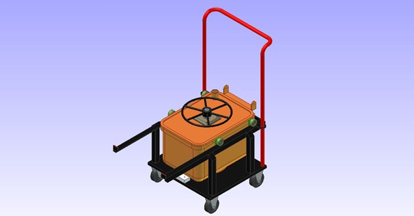 CHEMICAL REACTION RECEIVER WITH  AGITATOR